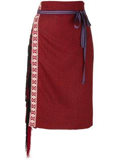 fringed long skirt  Miahatami