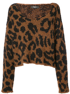 leopard knitted top Amiri