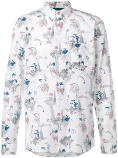 рубашка с растительным принтом Ps By Paul Smith