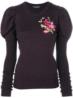 джемпер с цветочной вышивкой  Dolce & Gabbana