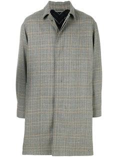 однобортное пальто в клетку Lanvin