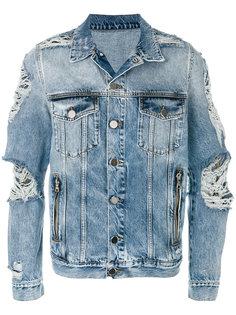 джинсовая куртка с потертой отделкой Balmain