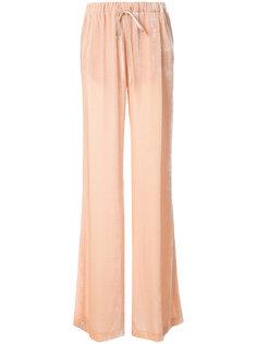 бархатные брюки палаццо Vionnet