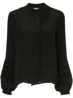 cut out long sleeve blouse Zeus+Dione