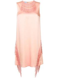 декорированное платье Prada