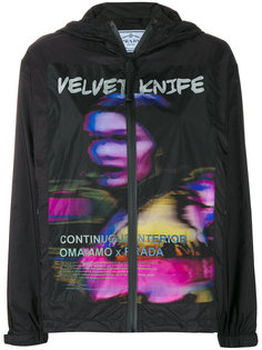 куртка-дождевик с принтом Velvet Knife Prada