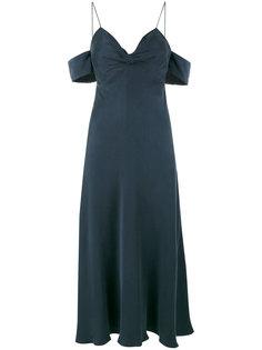 платье миди с открытыми плечами  Zimmermann