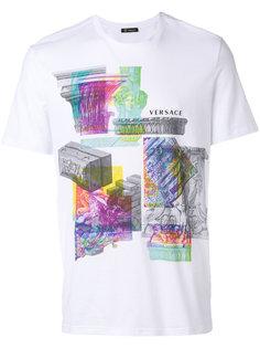 футболка с принтом коллажа Versace
