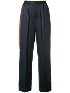 cropped trousers with red stripe Astraet