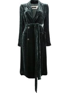 velvet tie waist coat Uma Wang