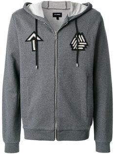 embroidered badge zip hoodie Les Hommes Urban