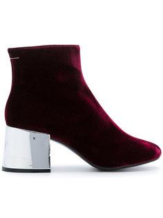 ботинки по щиколотку на контрастном каблуке Mm6 Maison Margiela