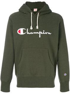 худи с принтом логотипа Champion