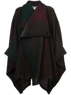 blanket style cardi-coat Issey Miyake