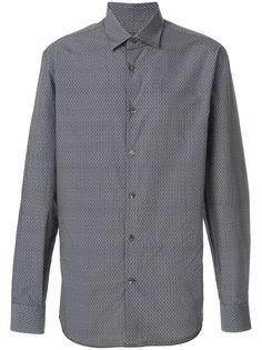 рубашка с мелким узором-логотипом Salvatore Ferragamo