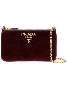 клатч на цепочке Prada