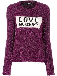 джемпер с блестками и логотипом Love Moschino