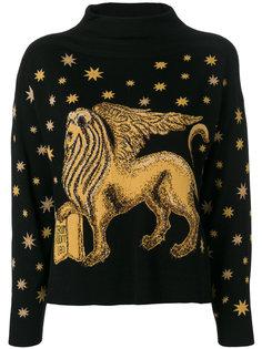 свитер с вышивкой  Alberta Ferretti