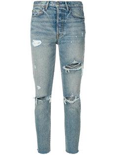 джинсы с прорехами  Grlfrnd