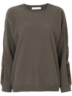 свитер со вставками на рукавах  Fabiana Filippi