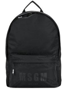 рюкзак с принтом логотипа MSGM