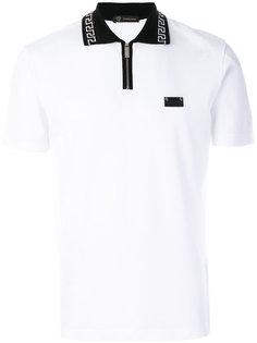 футболка с контрастным воротником Versace