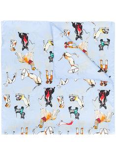 шарф с принтом собак Paul Smith