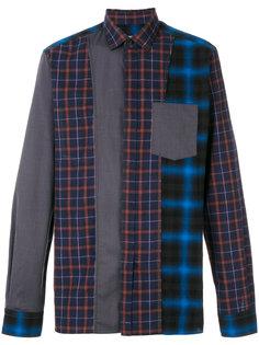 клетчатая рубашка с контрастными панелями Lanvin