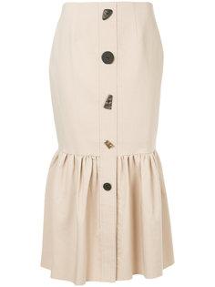 юбка с пуговицами разной формы Rejina Pyo