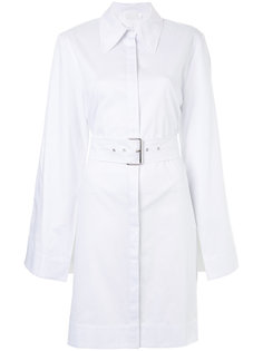 slim-fit belted shirt dress Solace