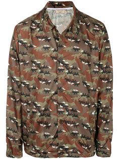 камуфляжная куртка с принтом Maison Kitsuné