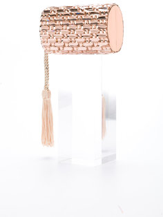 round hardcase clutch with tassels Isla