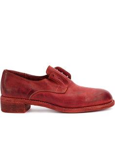 броги на низком каблуке Guidi