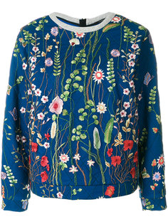 floral embroidered sweatshirt Odeeh