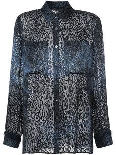 oversized sheer shirt  Raquel Allegra