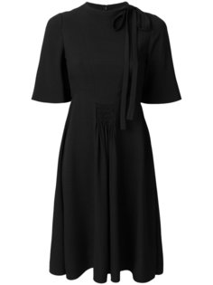 платье с завязками и сборками Valentino