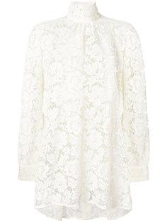 прозрачная кружевная блузка Valentino