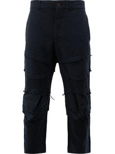 укороченные брюки с необработанными краями Comme Des Garçons Homme Plus