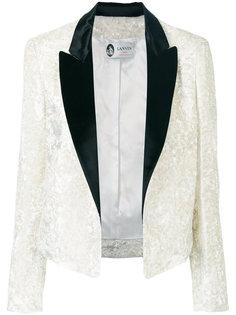 двухцветный бархатный пиджак Lanvin