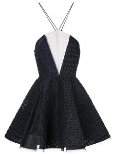 платье мини Brycen с вырезом-петлей халтер Alex Perry