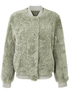 embroidered shearling bomber jacket Meteo By Yves Salomon