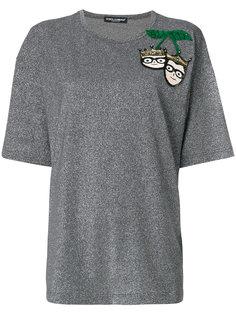 футболка с вышивкой пайетками Dolce & Gabbana