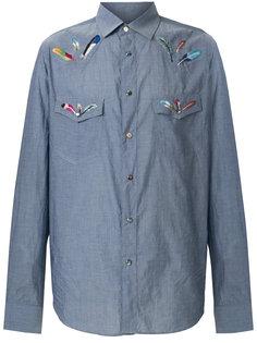 рубашка с вышивкой перьев Paul Smith