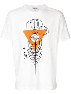футболка с принтом наброска рисунка YMC