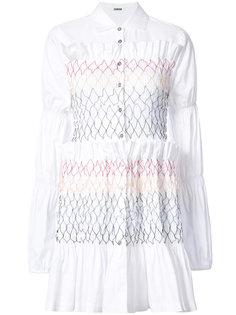 ruffle shirt dress Jourden