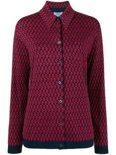 рубашка с объемным воротником Prada