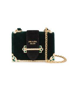 квадратная сумка с кристаллами Prada