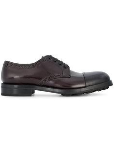 туфли Дерби с контрастным носком Prada