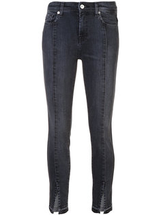 skinny jeans with ankle slit 7 For All Mankind