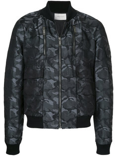 camouflage print bomber jacket  Strateas Carlucci